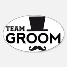 Team groom, hat and mustache Decal
