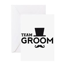Team groom, hat and mustache Greeting Cards