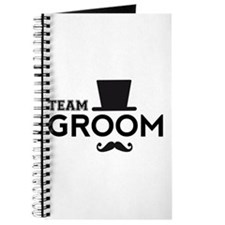 Team groom, hat and mustache Journal