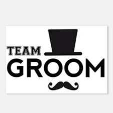 Team groom, hat and mustache Postcards (Package of