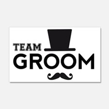 Team groom, hat and mustache Wall Decal