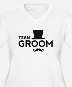 Team groom, hat and mustache Plus Size T-Shirt