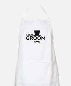 Team groom, hat and mustache Apron