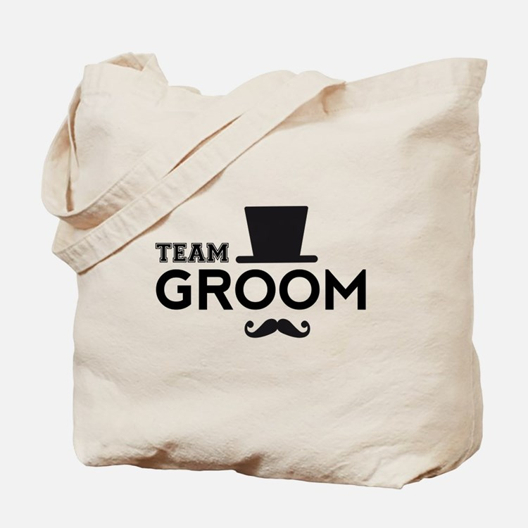 Team groom, hat and mustache Tote Bag