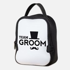 Team groom, hat and mustache Neoprene Lunch Bag