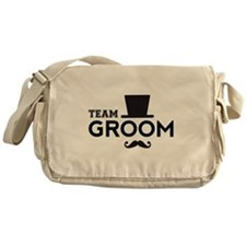 Team groom, hat and mustache Messenger Bag