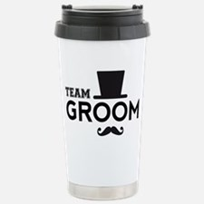 Team groom, hat and mustache Travel Mug