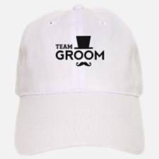 Team groom, hat and mustache Baseball Baseball Baseball Cap
