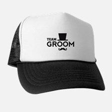 Team groom, hat and mustache Trucker Hat