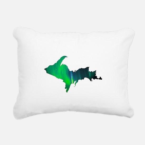 Aurora Borealis U.P. 2 Rectangular Canvas Pillow