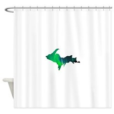 Aurora Borealis U.P. 2 Shower Curtain