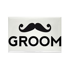 Groom mustache Magnets
