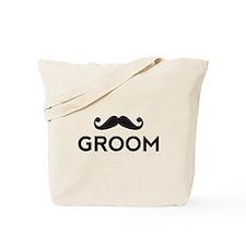 Groom mustache Tote Bag