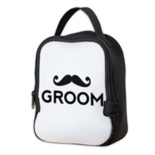 Groom mustache Neoprene Lunch Bag