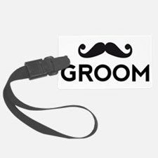Groom mustache Luggage Tag