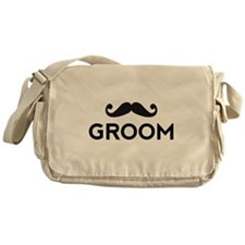 Groom mustache Messenger Bag