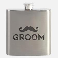 Groom mustache Flask