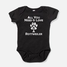 Love And A Rottweiler Baby Bodysuit