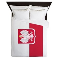 Polish Flag Coat of Arms Queen Duvet