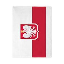 Polish Flag Coat of Arms Twin Duvet