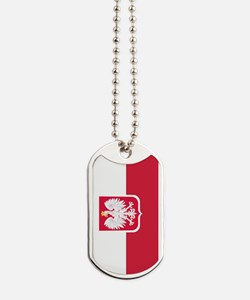 Polish Flag Coat of Arms Dog Tags