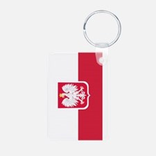 Polish Flag Coat of Arms Keychains