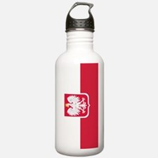 Polish Flag Coat of Arms Water Bottle