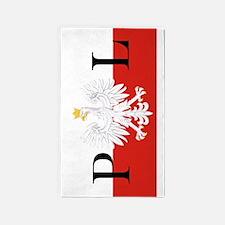 Polish Flag PL 3'x5' Area Rug