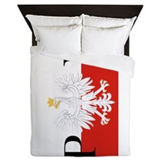 Polish Flag PL Queen Duvet