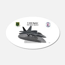 F-22A Raptor 94 FS on ramp Wall Decal