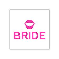 Bride pink lips Sticker