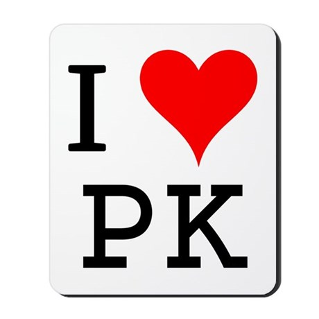 I Love PK Mousepad