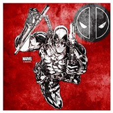 Deadpool Sketch Wall Art Framed Print