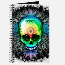 Marijuana Psychedelic Skull Journal