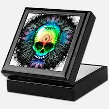 Marijuana Psychedelic Skull Keepsake Box
