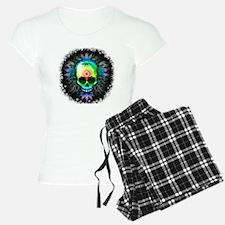 Marijuana Psychedelic Skull Pajamas