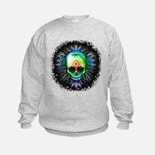 Marijuana Psychedelic Skull Sweatshirt