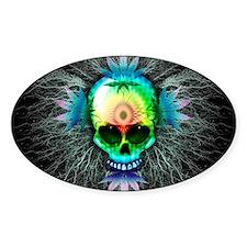 Marijuana Psychedelic Skull Decal