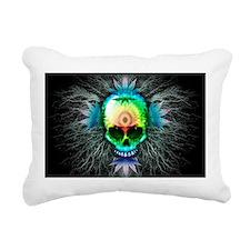 Marijuana Psychedelic Skull Rectangular Canvas Pil