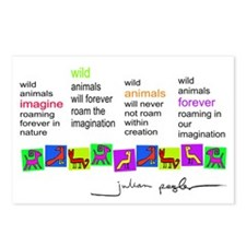 WildAnimals Postcards (Package of 8)
