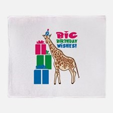 Big Birthday Wishes! Throw Blanket