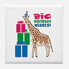 Big Birthday Wishes! Tile Coaster