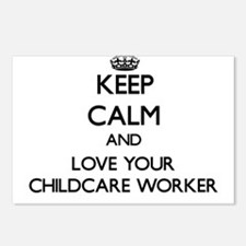Keep Calm and Love your Childcare Worker Postcards