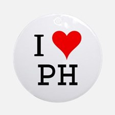 I Love PH Ornament (Round)