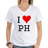 Initials ph Womens V-Neck T-shirts