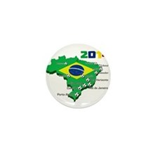 Brasil Futebol 2014 Mini Button (10 pack)