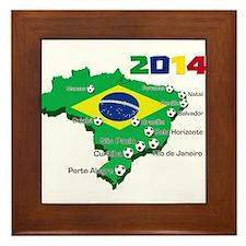 Brasil Futebol 2014 Framed Tile