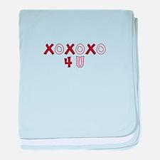 X O 4 U baby blanket