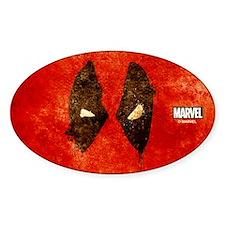 Deadpool Grunge Mask Decal