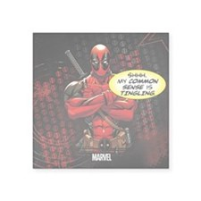 "Deadpool My Common Sense Square Sticker 3"" x 3"""